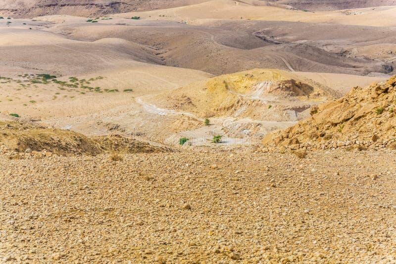 沙漠山风景,约旦,中东 库存照片