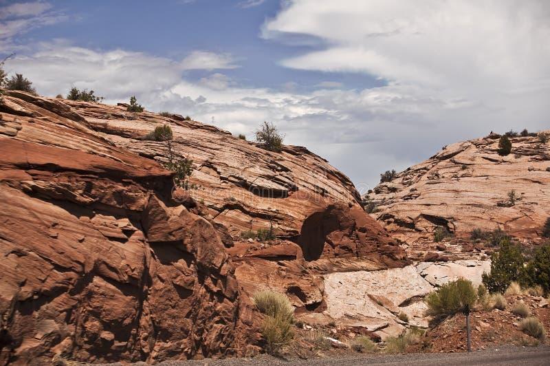 沙漠岩石 库存图片