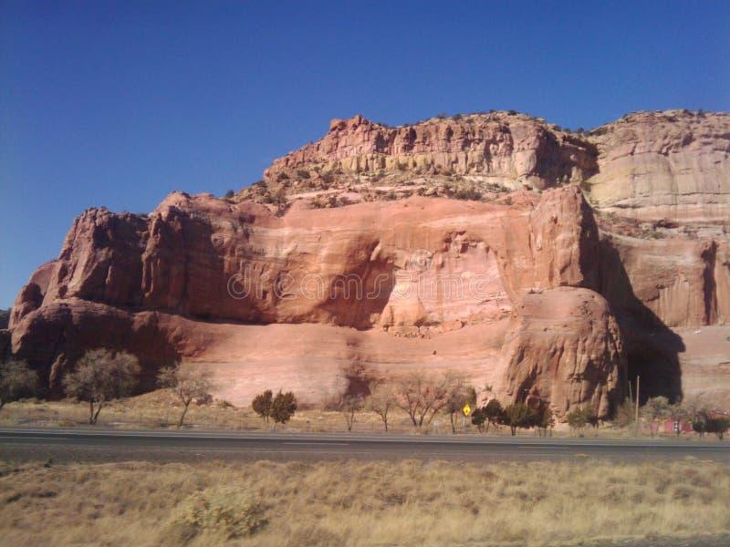 沙漠峭壁 库存照片