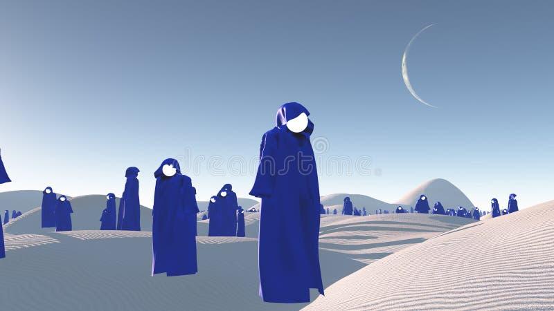 沙漠巢穴 皇族释放例证