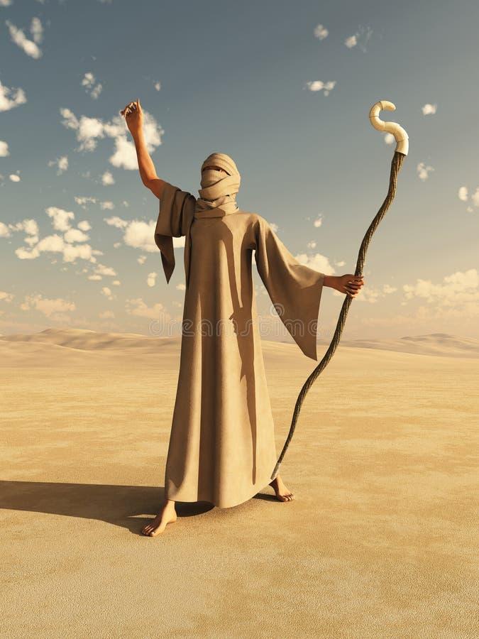 沙漠巫师 向量例证