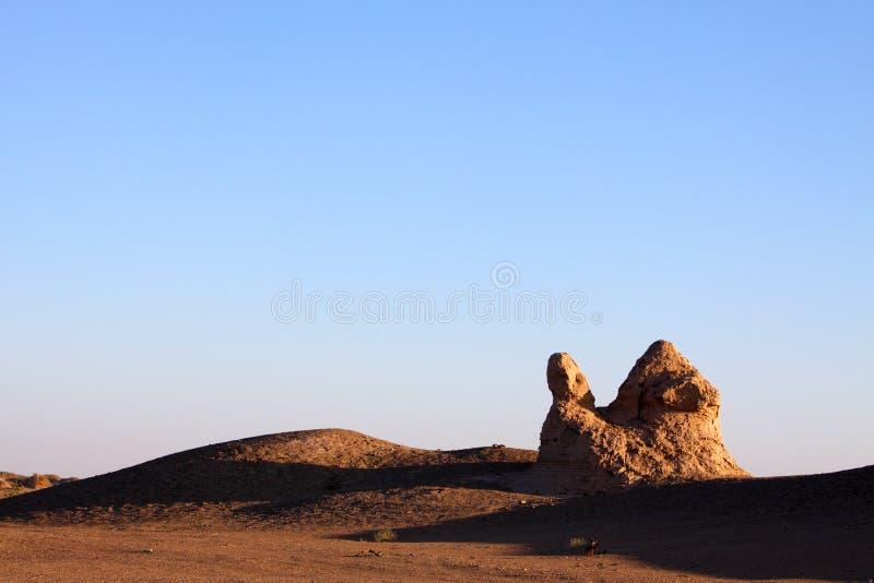 沙漠废墟 库存照片