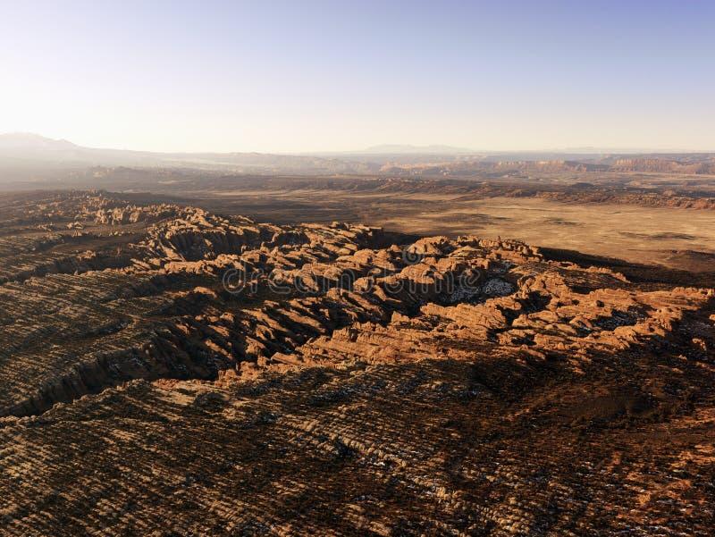 沙漠形成岩石 免版税库存照片