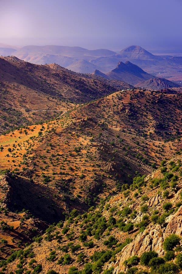 沙漠摩洛哥石头 图库摄影