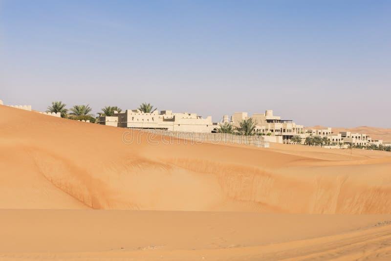 沙漠旅馆,阿布扎比 库存图片