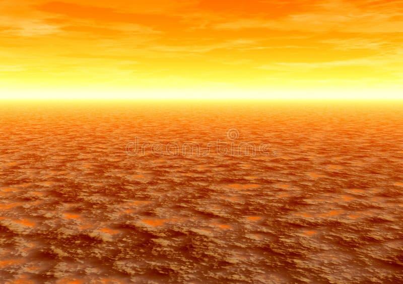 沙漠日出 向量例证