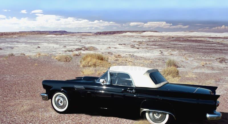 沙漠旧车改装的高速马力汽车 库存图片