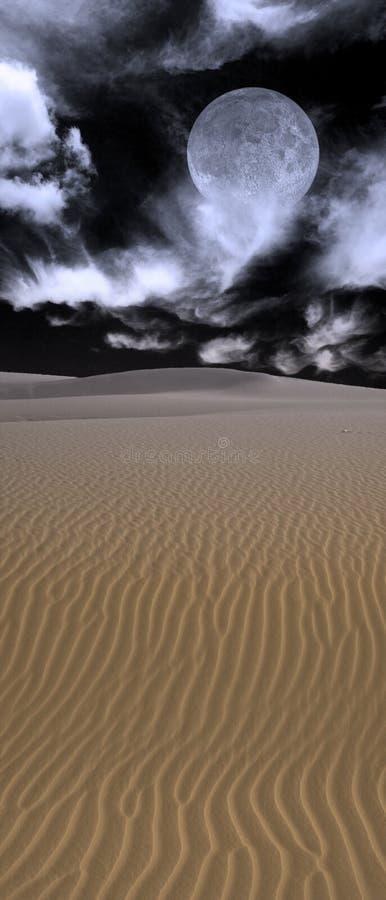 沙漠月亮 免版税库存图片
