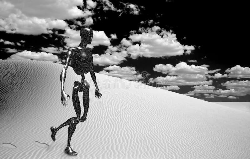 沙漠机器人 免版税库存图片