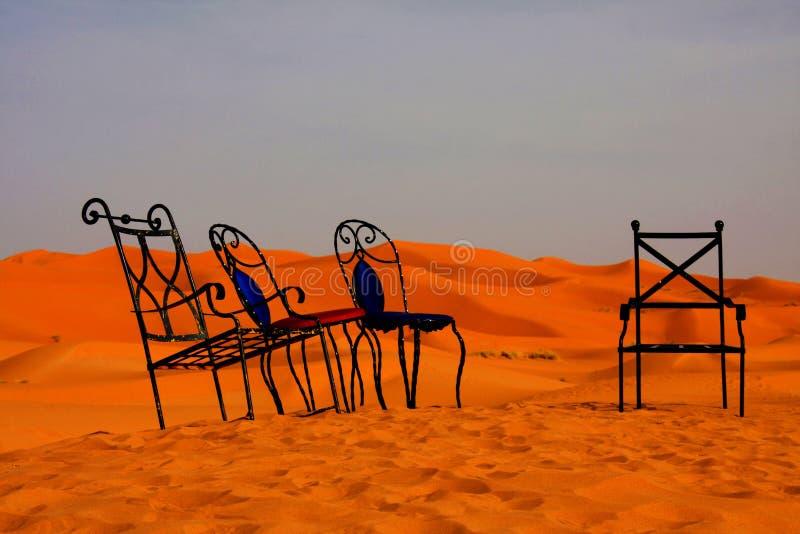沙漠椅子 免版税库存照片