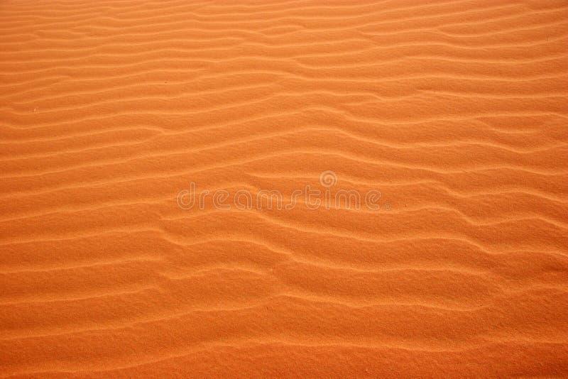 沙漠横向仿造沙子 免版税库存照片