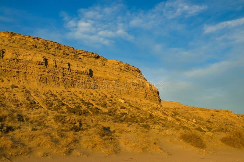 沙漠横向巴塔哥尼亚 图库摄影