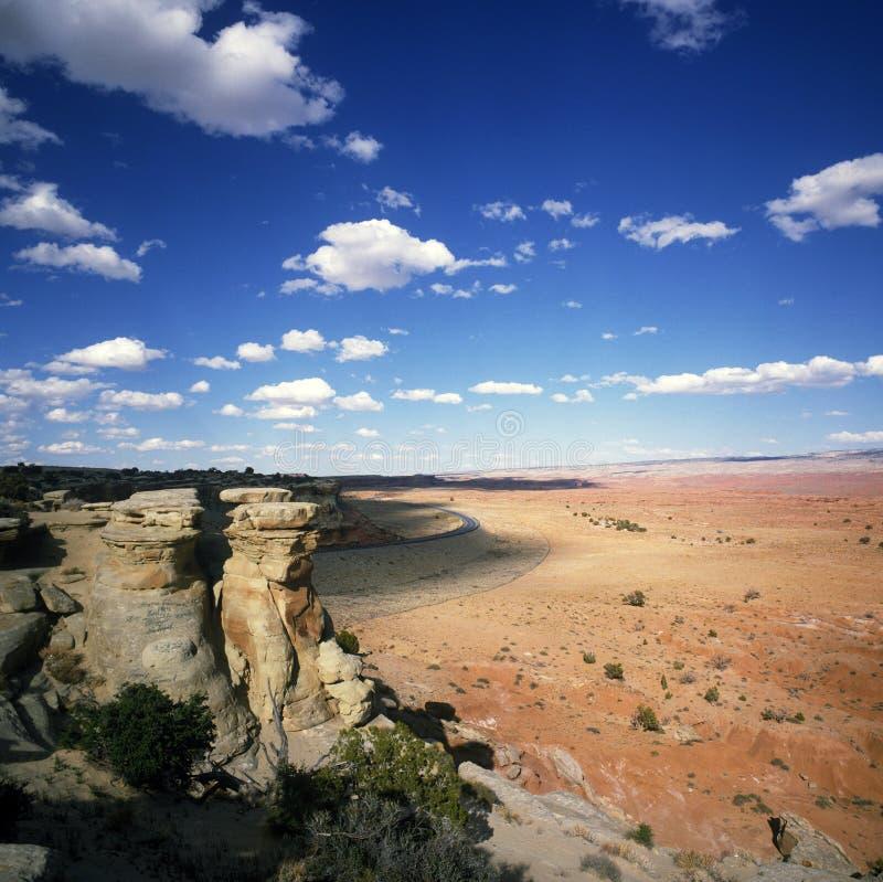 沙漠横向犹他 图库摄影