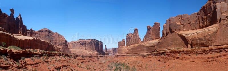 沙漠横向 库存照片