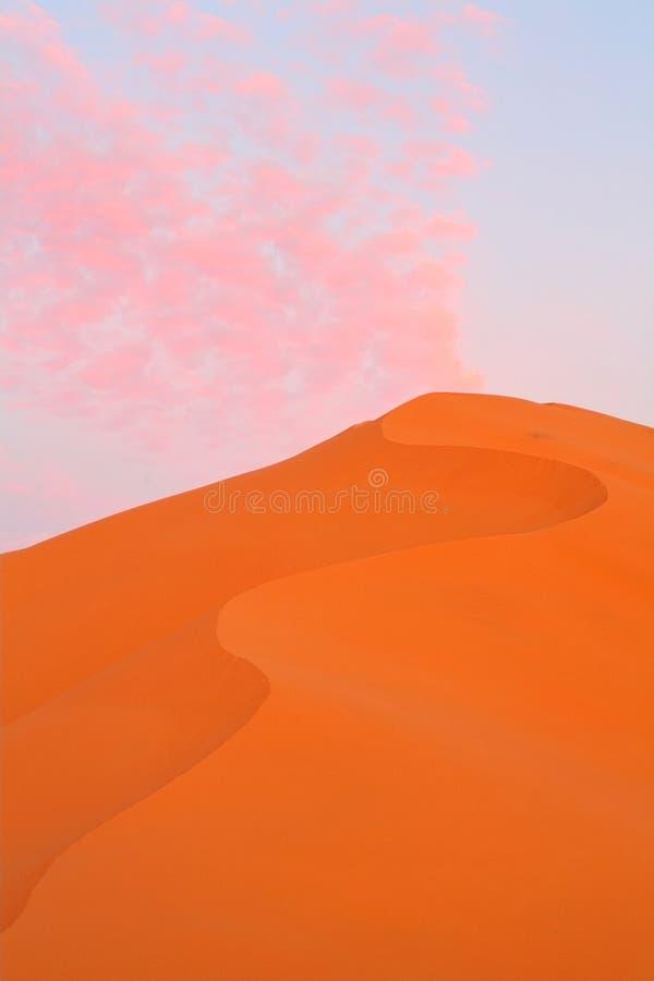 沙漠沙丘摩洛哥撒哈拉大沙漠沙子 库存照片