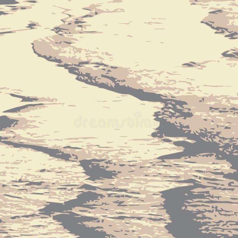 沙漠沙丘  向量例证