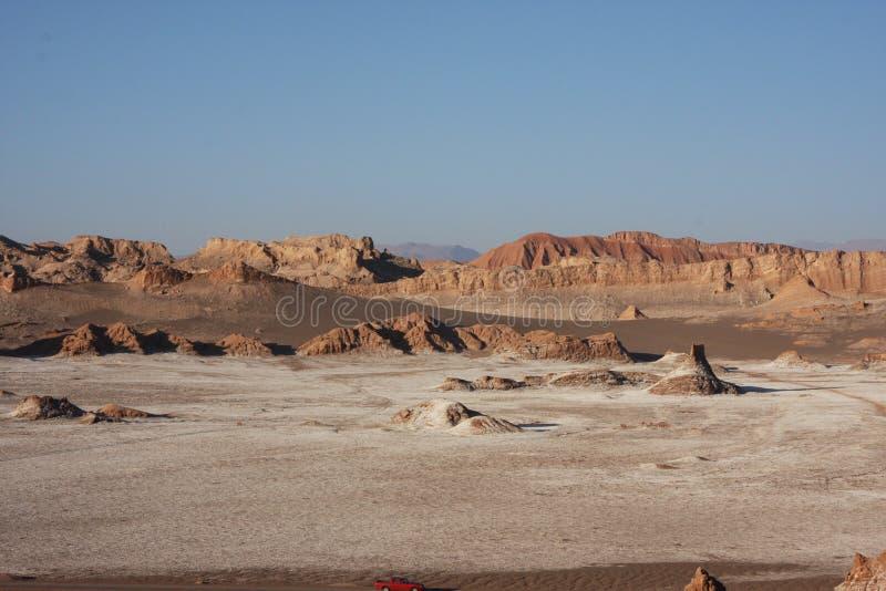 沙漠沙子、盐和岩石 库存图片