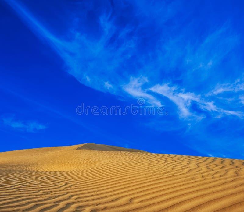 沙漠沙子自然风景 免版税图库摄影