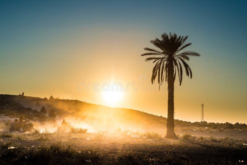 沙漠活动在突尼斯 免版税库存图片