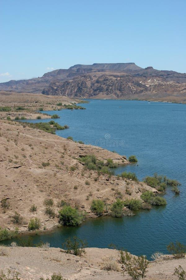 沙漠湖 库存照片