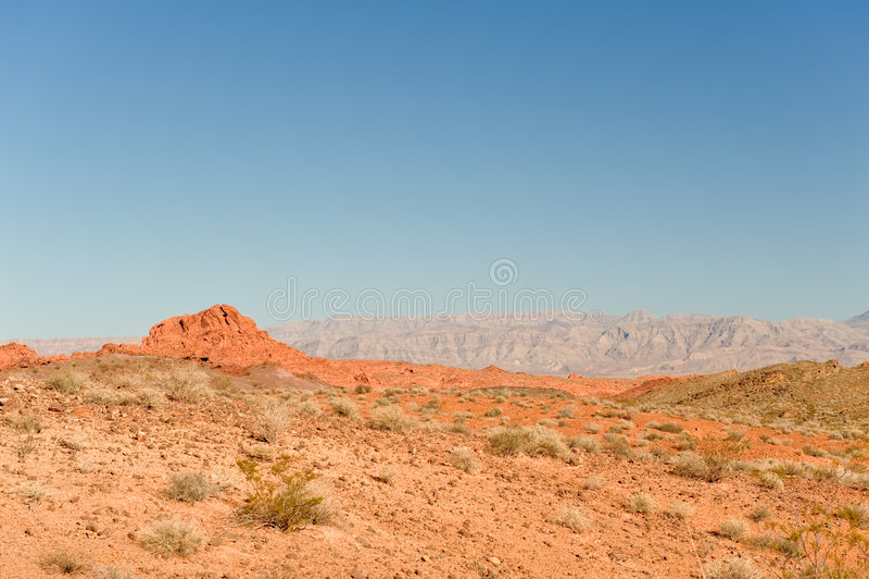沙漠火谷 库存照片