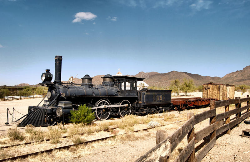 沙漠火车 库存图片