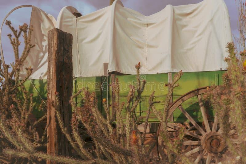 沙漠狂放的西部牛仔场面 库存图片