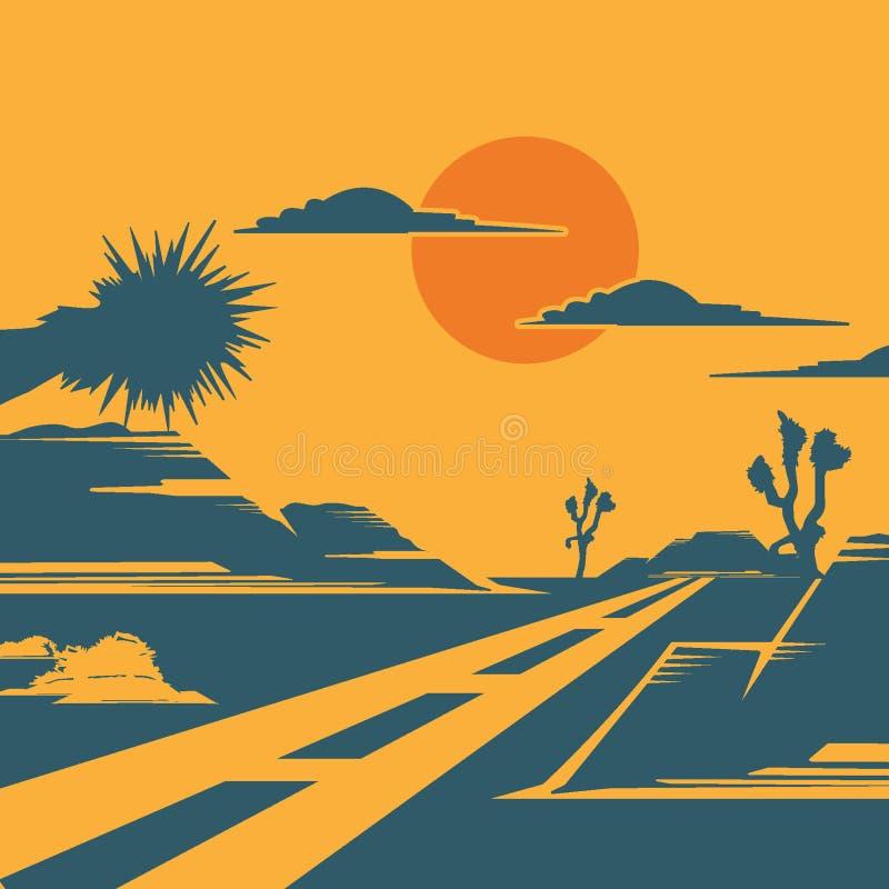 沙漠的路 皇族释放例证