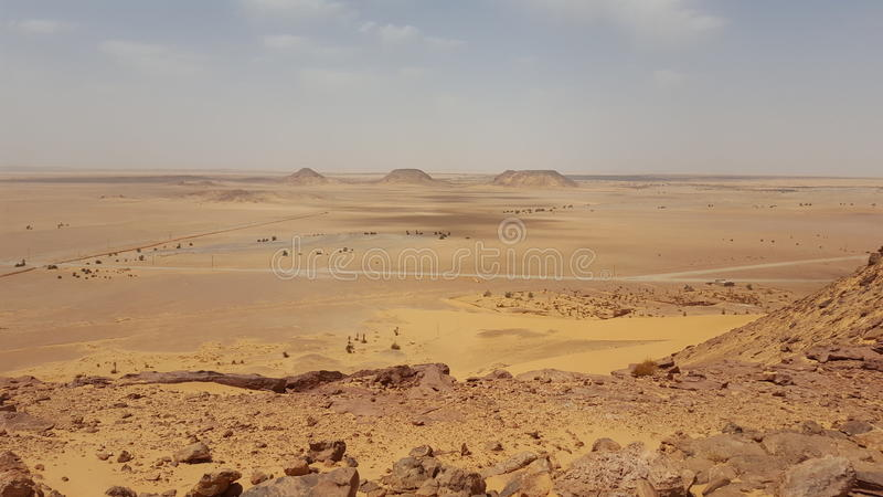 沙漠的风景 免版税库存照片