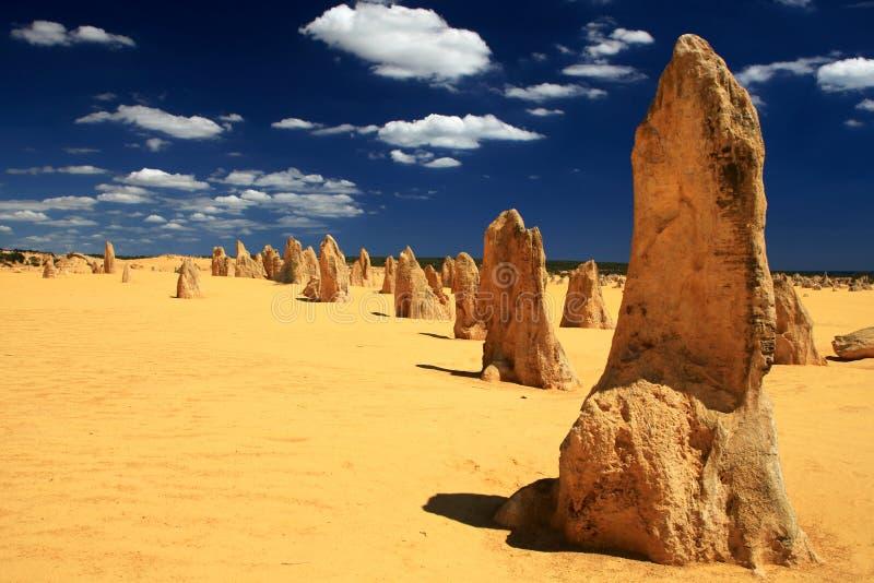 沙漠石峰 库存图片