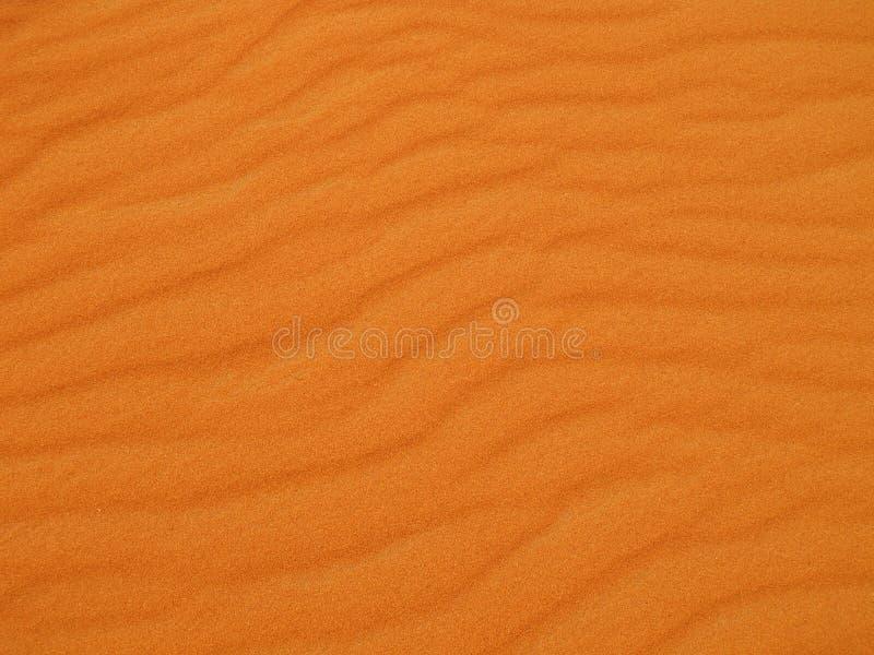 沙漠红色沙子 免版税图库摄影
