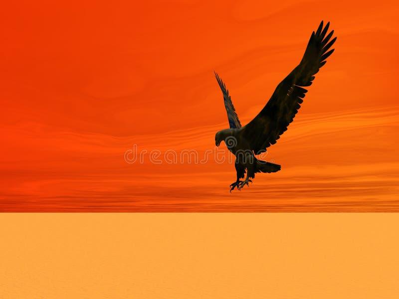 沙漠老鹰 向量例证