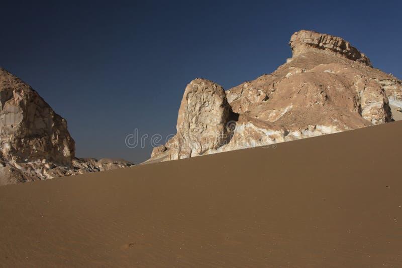 沙漠西方埃及的利比亚 免版税库存照片