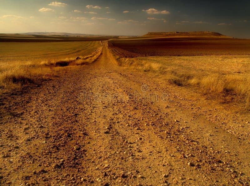 沙漠路 图库摄影