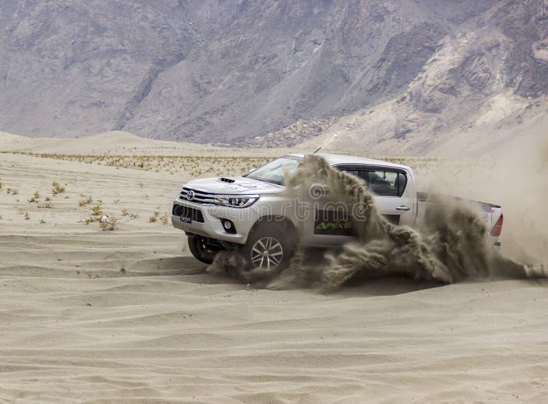 沙漠集会 库存照片