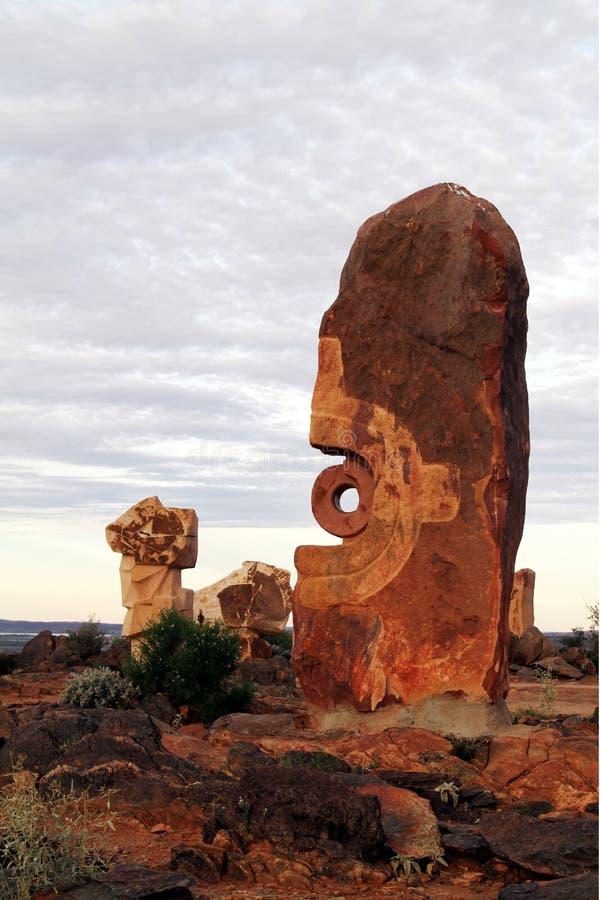 沙漠雕塑 免版税库存照片