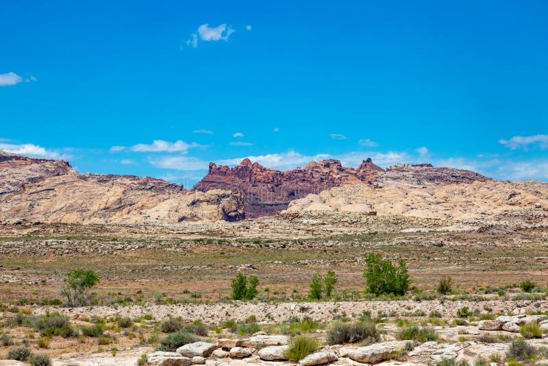 沙漠风景在犹他 免版税库存照片