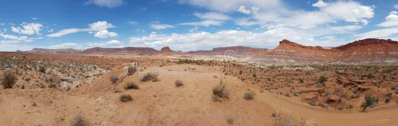 沙漠风景在犹他 库存图片