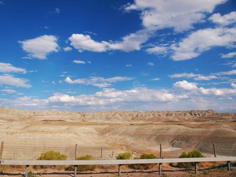 沙漠风景怀俄明南部 库存图片