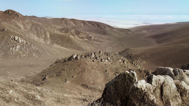 沙漠风景的看法,完全无所有植被 库存照片