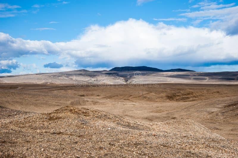 沙漠风景,冰岛 免版税库存图片