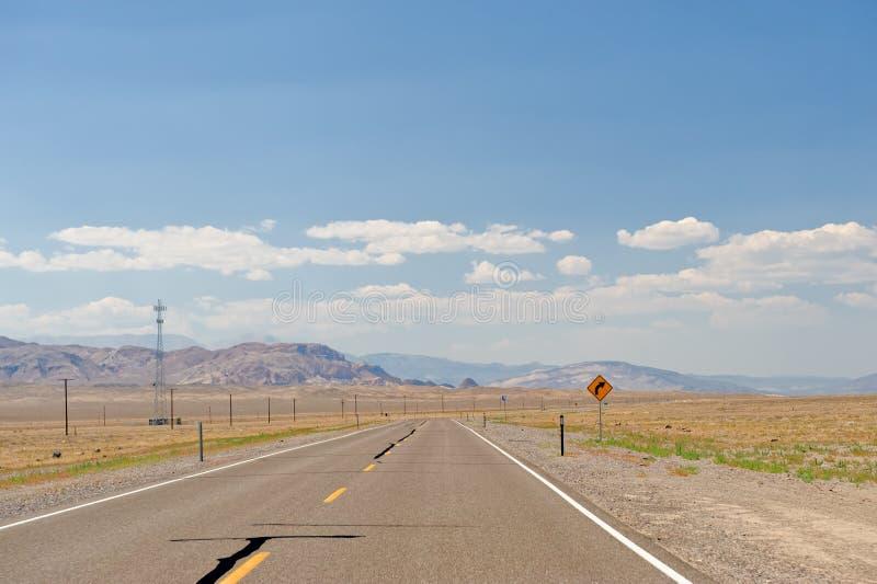 沙漠高速公路内华达 免版税库存图片