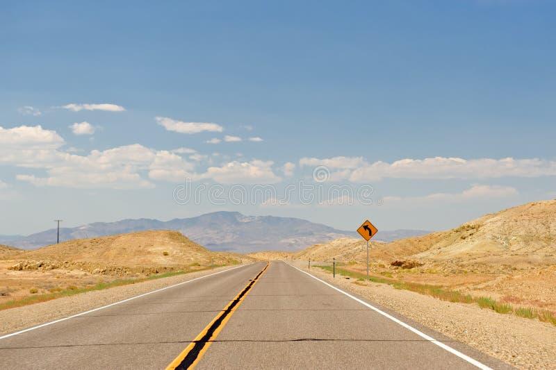 沙漠高速公路内华达 图库摄影
