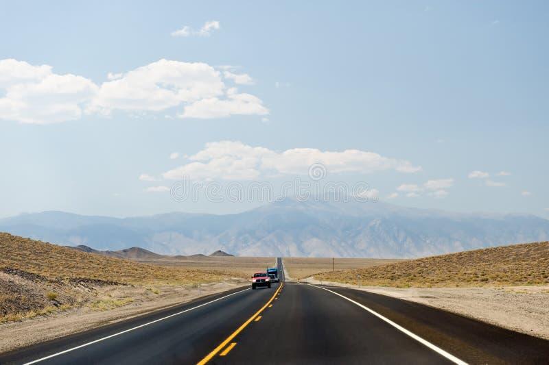 沙漠高速公路内华达 库存照片
