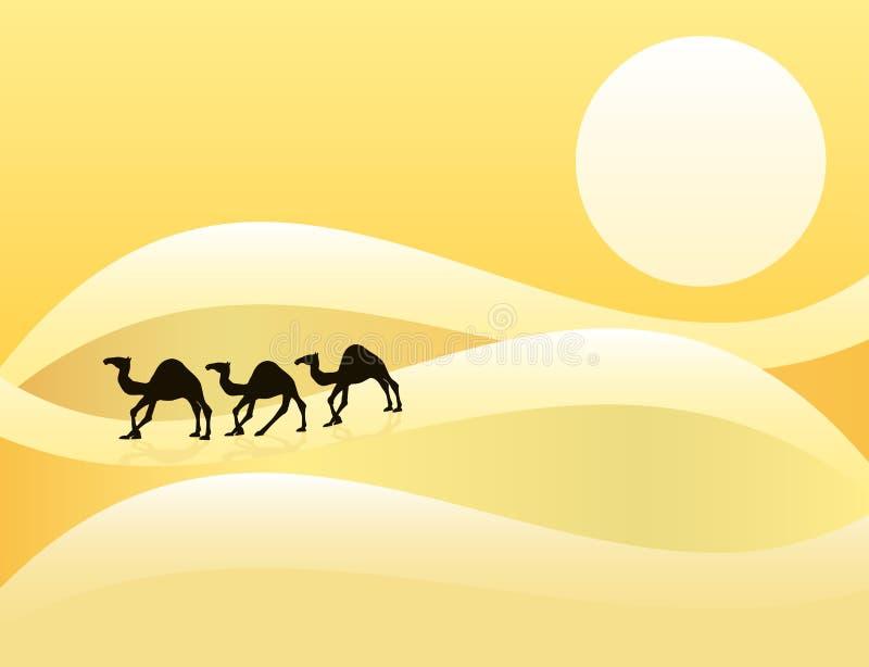 沙漠 皇族释放例证