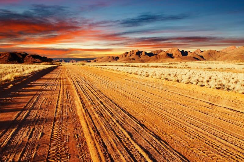 沙漠kalahari纳米比亚 免版税库存图片