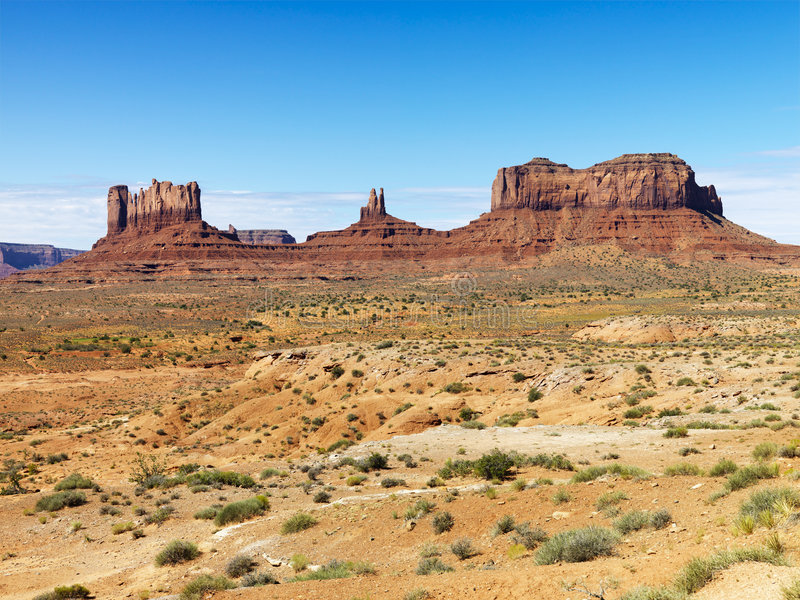 沙漠mesa 免版税库存图片