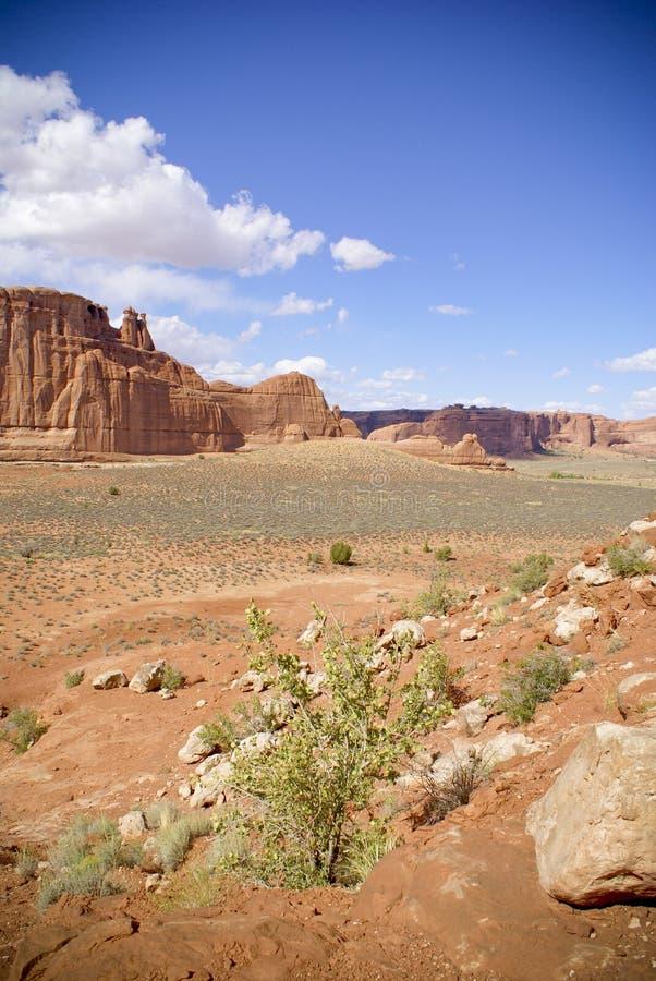 沙漠mesas 免版税库存照片