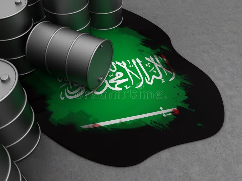 沙特阿拉伯和油 库存例证