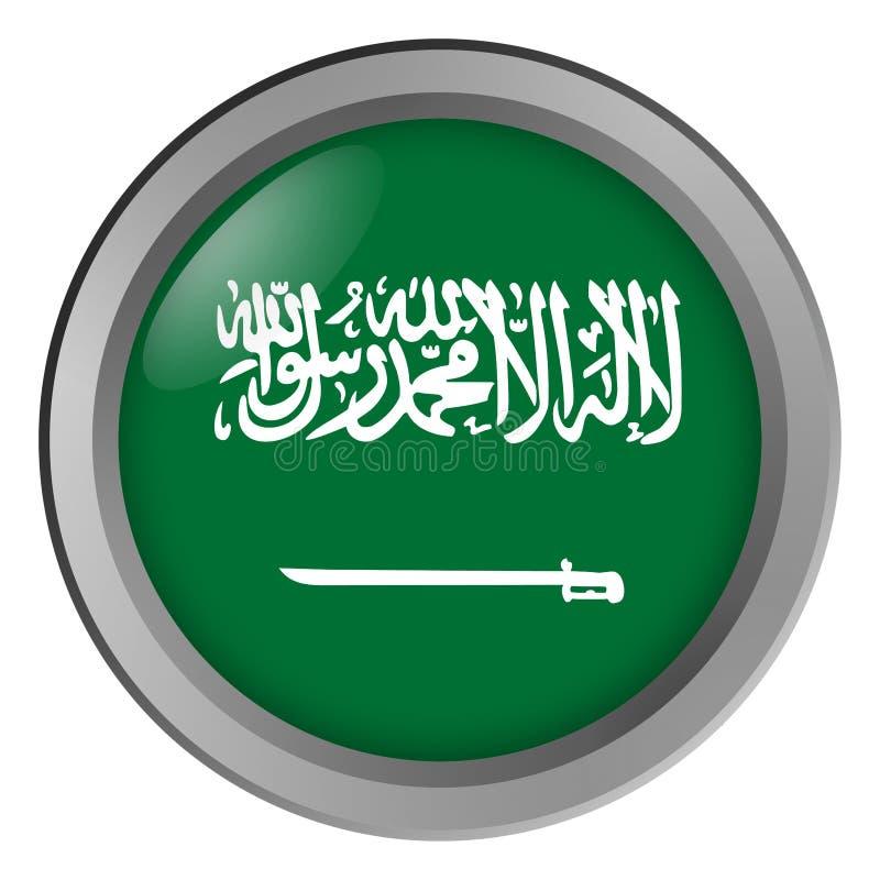 沙特阿拉伯回合旗子作为按钮 皇族释放例证